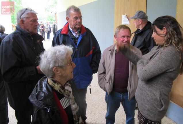 Le public a été accueilli par une communicante du site.