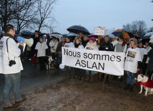 Turquant. 80 défenseurs de la cause animale soutiennent le chien Aslan