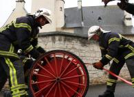 Saumur. Les pompiers simulent un incendie à la maison des compagnons